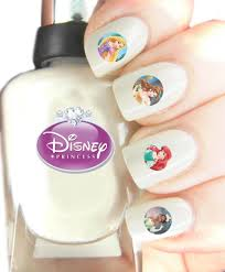 Easy to use nail art transfer stickers Disney Princess: Amazon.co ...