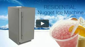 Pebble Ice Machine Scotsman Scn60 Residential Nugget Ice Machine On Vimeo