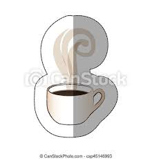 Cute coffee cup clipart free download! White Coffee Cup With Steam Vector Ilustraction Design Image Canstock