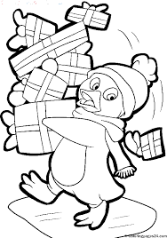 Small Picture Penguin Coloring Pages For Adults Cute Penguin On Christmas