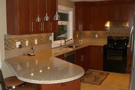kitchen subway tile backsplash ideas white cone shade pendant lighting four lamp brown wooden laminate flooring