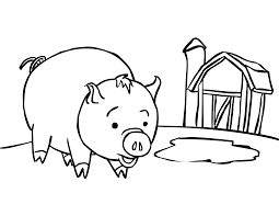 Baby Pig Coloring Sheets Pig Coloring Pages Preschool Farm Pig