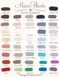 Maison Blanche Color Chart The Painted Perch