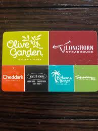 10 gift card olive garden longhorns cheddars seasons 2 bahama