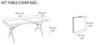 standard banquet table size