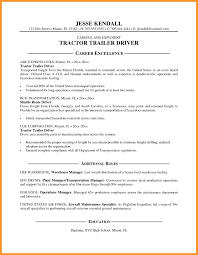 truck driving resumes truckr resume sample and complete guide examples format word