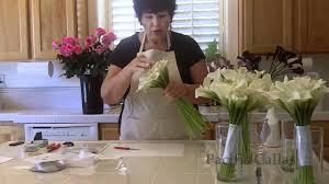 diy wedding flower arrangements. how to make a hand-tied calla lily bouquet for your wedding -diy flowers - youtube diy flower arrangements
