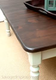Java Coffee Table Salvaged Inspirations Painted Pine Coffee Table Stained W