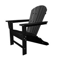 adirondack chair silhouette. Interesting Silhouette POLYWOOD South Beach Black Plastic Patio Adirondack Chair To Silhouette H