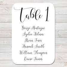 Table Plan Cards Amazon Co Uk