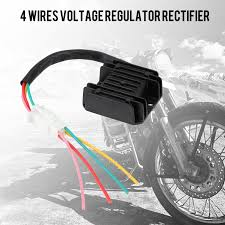 ATV GY6 50 150cc Scooter 4 Wires <b>Voltage Regulator</b> Rectifier for ...