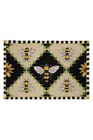 peking handicraft bee rug front cropped image