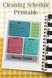 cleaning schedule printable cleaning schedule printable organize and decorate everything