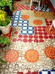 14 amazing painted floors painted concrete patiosstenciled