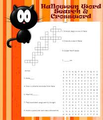 printable crossword word search puzzles halloween wordsearch ...