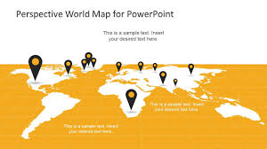 Perspective World Map For Powerpoint World Map Design