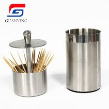 Great Stainless Steel Toothpick Holder,Metal Toothpick Container
