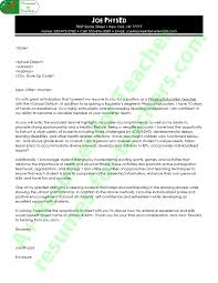 physical education cover letter exle