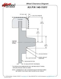 Minimum Rotor Thickness Chart Chevy Wilwood 140 11811 Fdli Front Disc Brake Kit 49 54 Chevy 53 62 Corvette