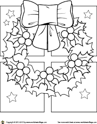 Small Picture Christmas Wreath Coloring Page