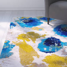 fancy design ideas yellow and white area rug 29