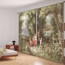 office drapes. Wonderful Office Oil Painting 3D Photo Printing Blackout Window Curtains For Living Room  Bedding HotelOffice Intended Office Drapes H