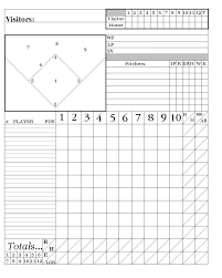 Baseball Charting Sheets Printable Baseball Score Sheets Here Is My System