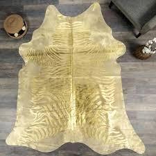 cream and gold cowhide rug zebra metallic hides bazaar 1 large