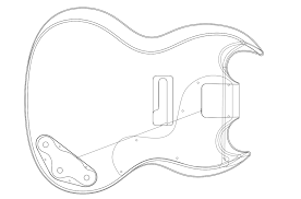 Sg Template Gibson Sg Custom Guitar Templates Electric Herald