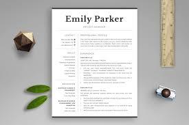 Professional Resume Template Emily Bonus