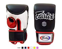 Fairtex Muay Thai Bag Gloves Tgo3 Tgt7 Color Black Red Blue White Yellow Size Medium Large Training Sparring Bag Boxing Gloves For Kick Boxing Mma