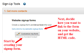 constant contact signup form 4 sign up tools to help you grow your email list constant contact