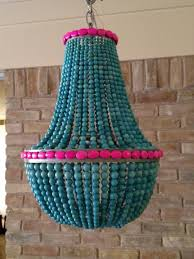 items similar to turquoise hot pink beaded empire style chandelier on