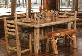 log dining room sets timberland table rustic set a88 rustic