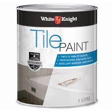 tile paint colorsWhite Knight 1L Neutral Tile Paint  Bunnings Warehouse
