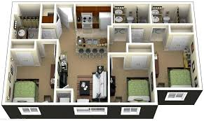 3 bedroom house plans with photos simple floor garage plan dimensions kerala 3d