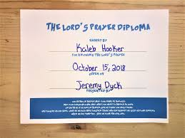 the lord s prayer diploma children s ministry deals the lord s prayer diploma