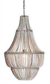 whitewash wood bead chandelier zoom 300418