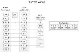 wiring between trane xl824, tem6, and xr17 doityourself com trane tem4 installation manual at Trane Air Handler Wiring Diagram