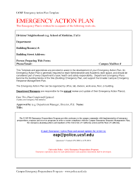 Emergency Action Plan Sample Emergency action plan template sample fitted and tiamomode 1