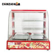 commercial countertop food pizza pastry warmer wide display case