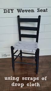 woven drop cloth seat myrepurposedlife com