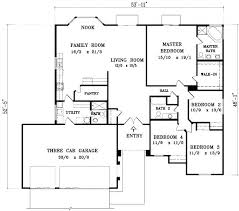 home plans with open floor plans open floor plan bungalow square feet bedrooms parking space on