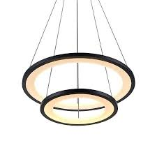 led ring chandelier a large image of the black 5 ring led chandelier