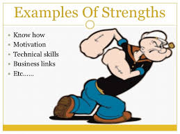 Examples Of Strength And Weakness Strength And Weakness