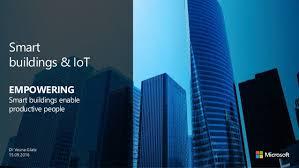 Smart Buildings Smart Buildings Iot