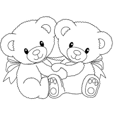 Small Picture Two Little Teddy Bear Coloring Page Two Little Teddy Bear