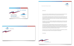 Cruise Travel Business Card Letterhead Template Word Publisher