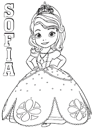 Princess Sofia Coloring Pages To Print Coloring Pages For Kids In