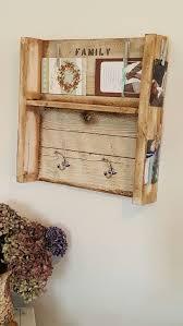 Reclaimed Wood Coat Rack Shelf Rustic shabby chic hand made reclaimed wood coat rack shelf Home 58